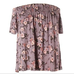 American eagle soft & sexy purple floral blouse